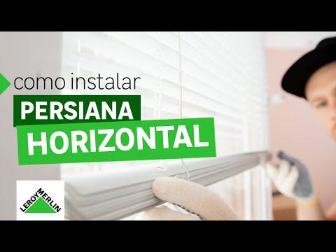 Como instalar persiana horizontal | Leroy Merlin