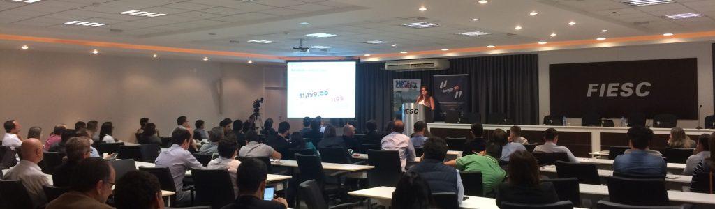 Inovar SC: Diretor Echosis palestra ao lado de CEO do Peixe urbano e Sênior do Mercado Livre