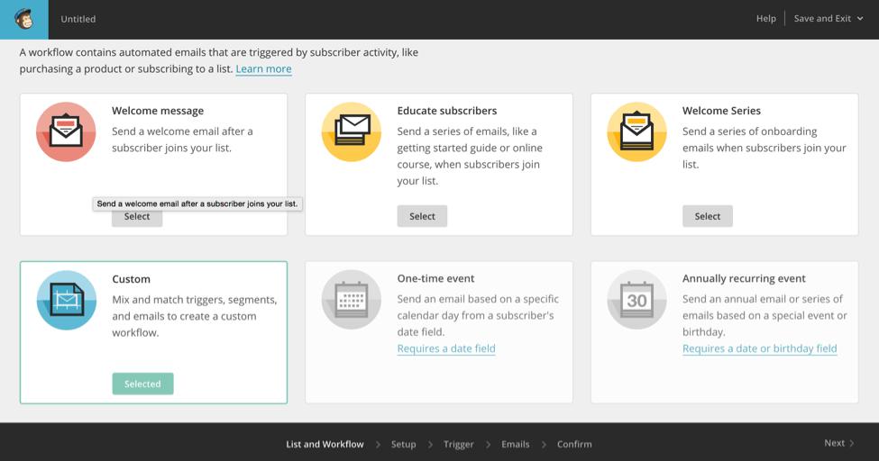 mailchimp-custom-workflow