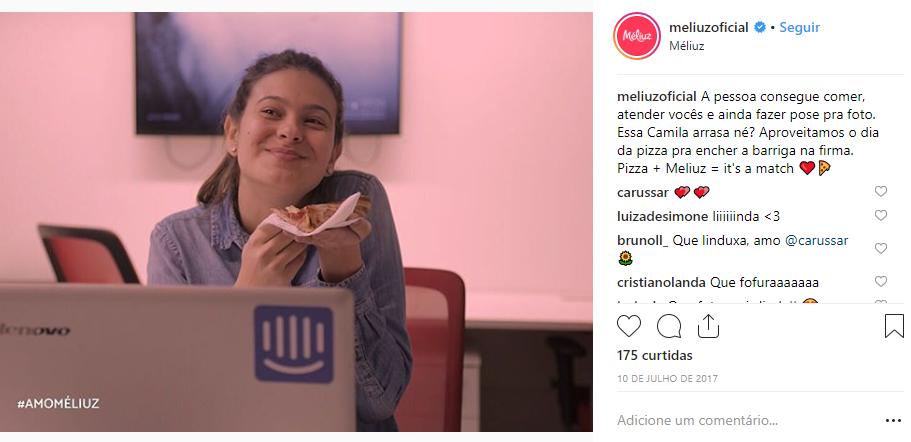 Exemplo de publicação no Instagram