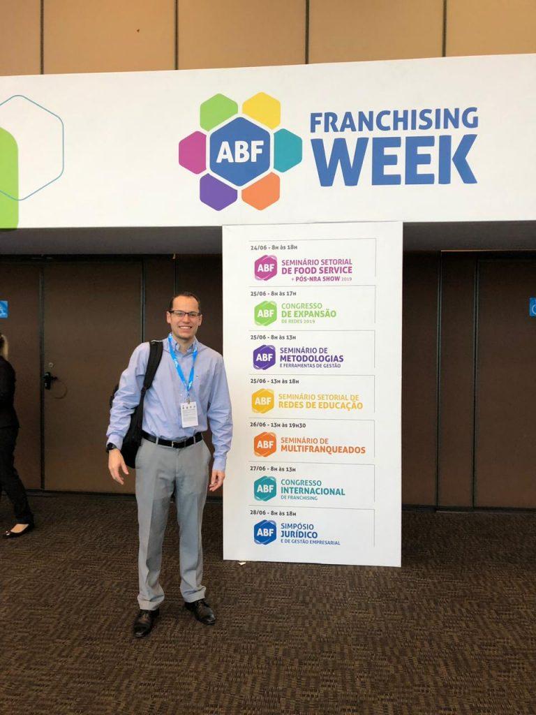 CEO da Echosis, Leonardo Guzatti Dengo participou da ABF Franchising Expo
