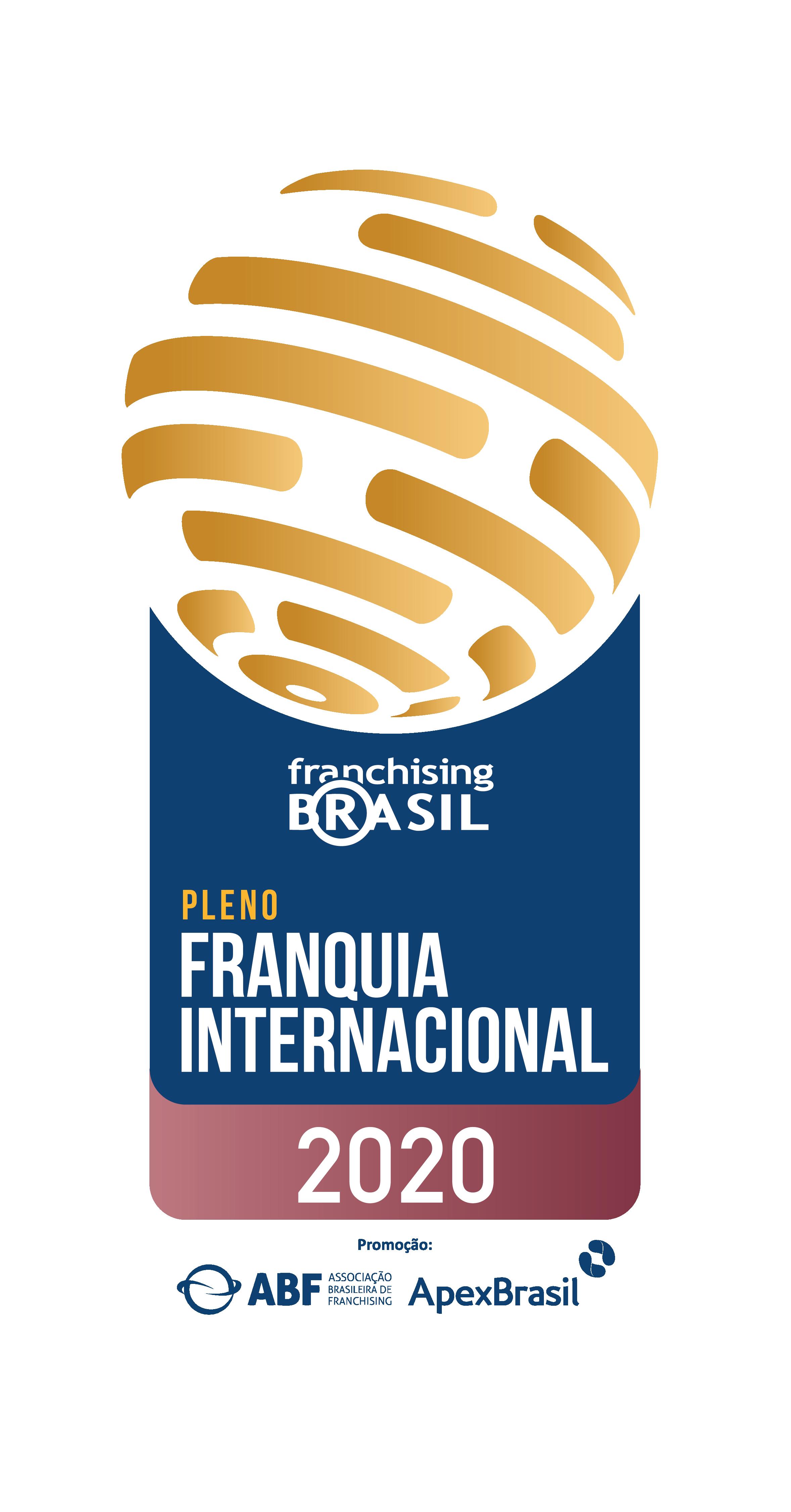 Selo ABF de franquia internacional 2020
